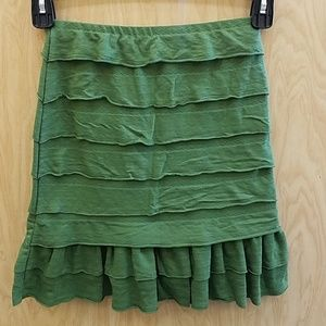 Max Studio Size XS Ruffle Layered Skirt